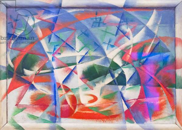 Abstract speed + sound, 1913-14, (oil on board)