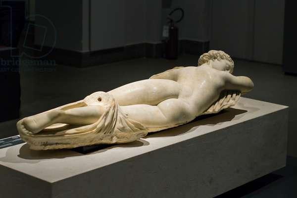 Sleeping hermaphrodite, 2nd century (sculpture)