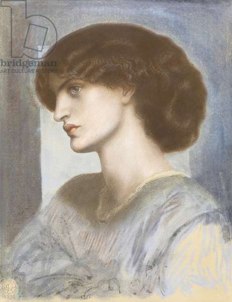 Portrait of Jane Morris, 1868-74 (pastel on cardboard)
