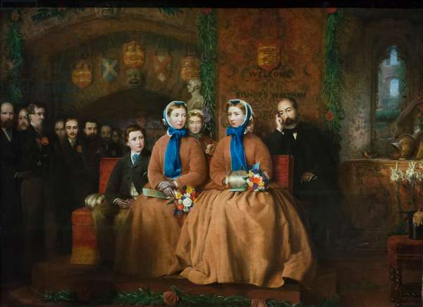 The Opening of the Royal Albert Infirmary at Bishop's Waltham, 1865 (oil on canvas)