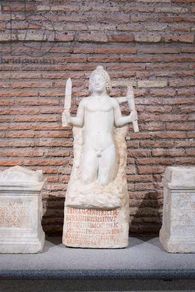 Statue of Mithras, end of 2nd century AD, marble, National Roman Museum at the Baths of Diocletian, Rome, Italy