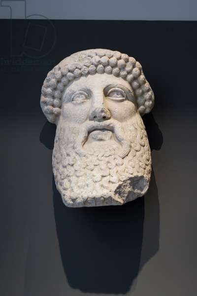 Protome of Dionysus, hadrianic period, (marble)