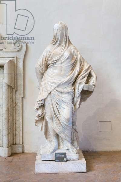 Tuccia la velata, (veiled lady), 1743 (marble)