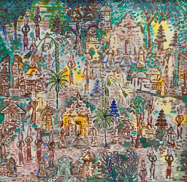 Galungan holiday, 1991 (acrylic on canvas)