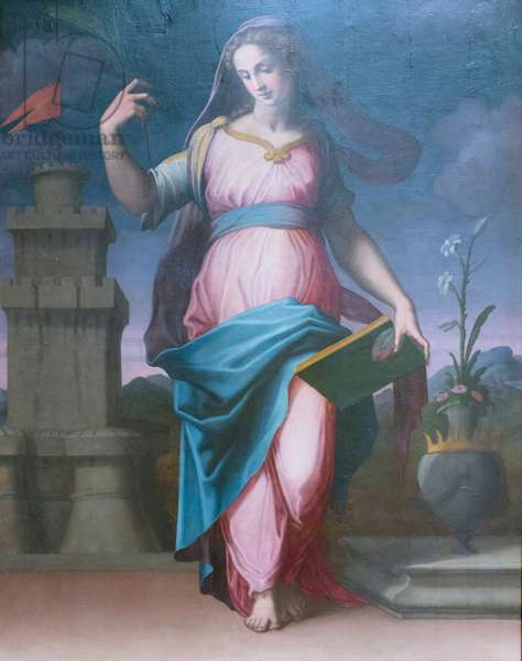 Santa Barbara, 1550-60 circa, (oil on canvas)