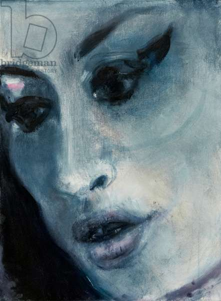 Amy Winehouse ('Amy-Blue') 2011 (oil on canvas)