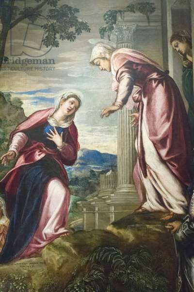Visitation with St Joseph and St Zacharias, 1550 circa,  (oil on canvas)