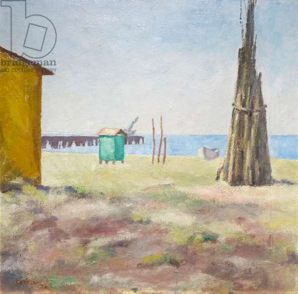 Spiaggia tirrena, 1928, Ardengo Soffici (oil on canvas)