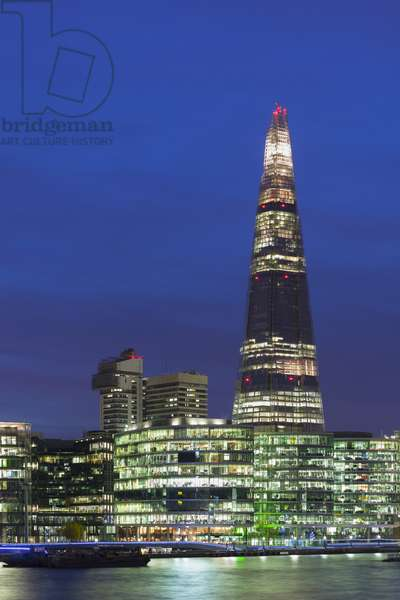 The Shard and the South Bank at night, London, UK (photo)