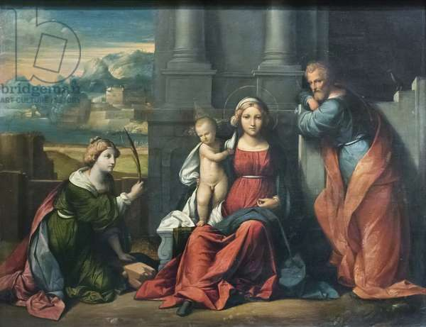 Holy Family (oil on canvas)