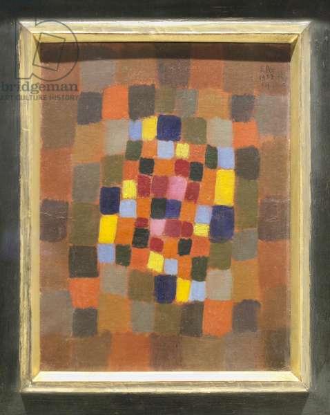 Colourful flowerbed (buntes Beet), 1923 (oil on cardboard)