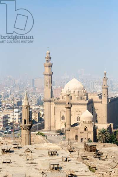 The spires of the  sultan Hassan mosque and madrassa, Cairo, Egypt