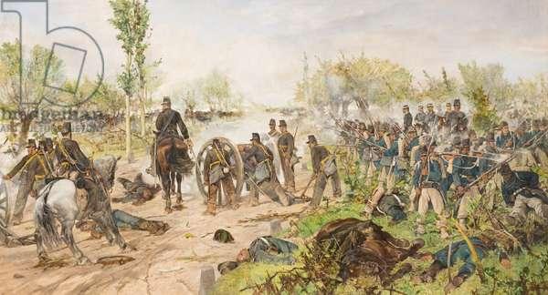 The battle of Custoza, 1880, Giovanni Fattori (painting)