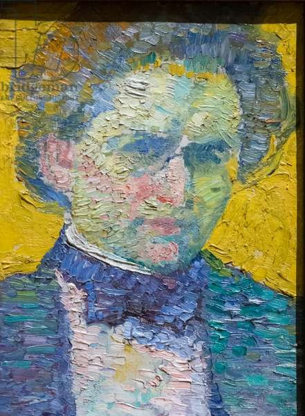 Self portrait, 1911 (oil on canvas laid on board)