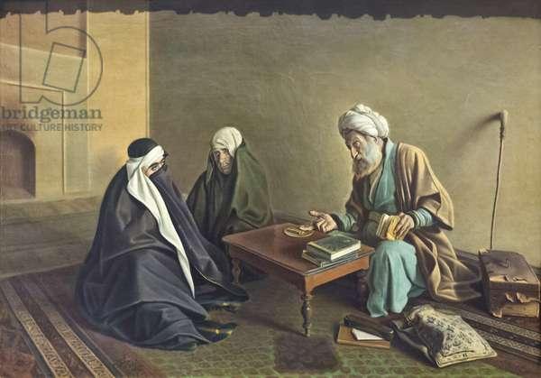 The fortune teller, Kamal-ol-Molk , oil on canvas, fine arts museum, Sa'd Abad museum complex, Tehran, Iran