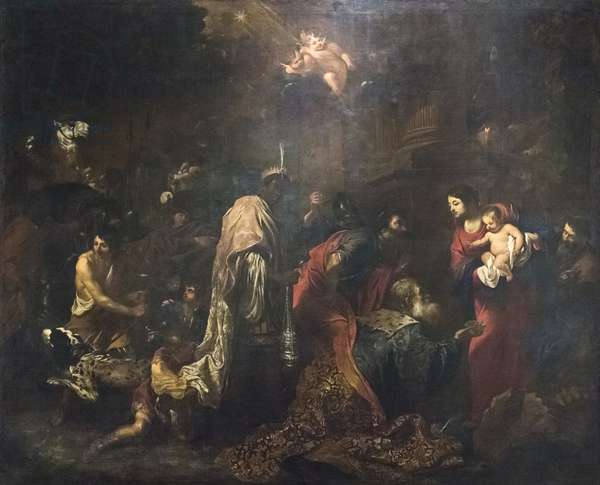 The Adoration of the Magi (oil on canvas)