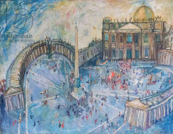 St Peter's Square, 1948 (oil on canvas)