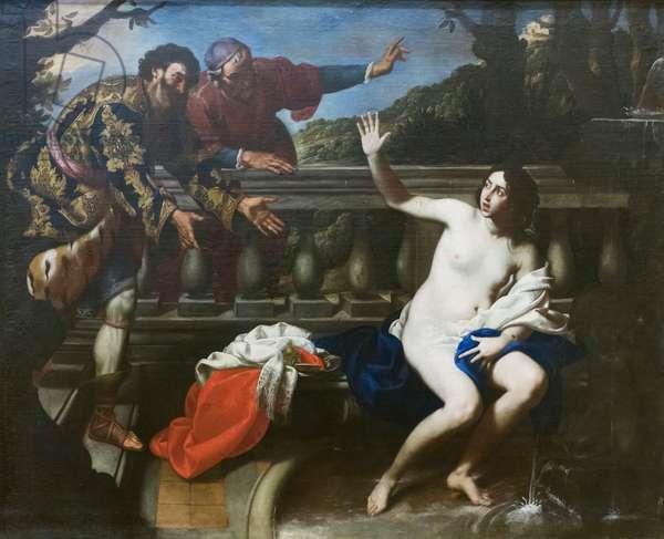 Susanna and the elders, 1645 circa, Francesco de Rosa, known as Pacecco (oil on canvas)