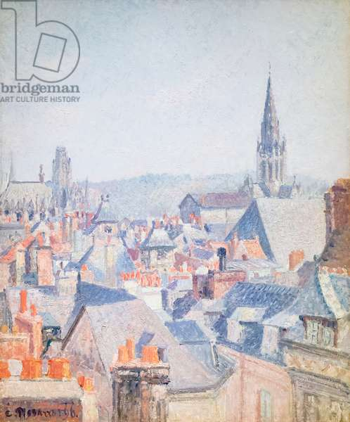 The roofs of old Rouen, sunlight, 1896 (oil on canvas)