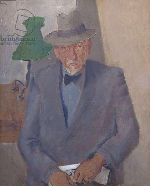 Portrait of Luigi Pirandello, 1936 (oil on canvas)