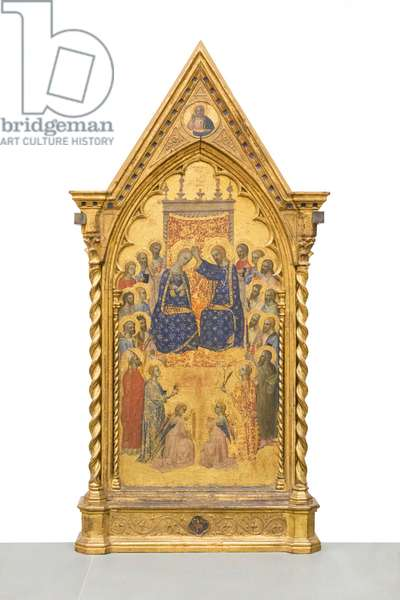 Coronation of the Virgin with angels and saints, 1365-70 circa, (panel)