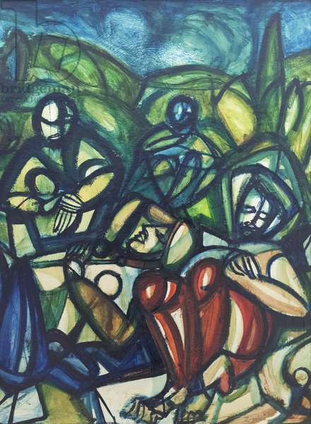 The Garden of Gethsemane, 1924 (oil on hardboard)
