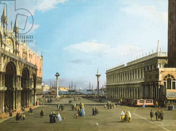 Venice, the piazzetta with the library of san Marco
