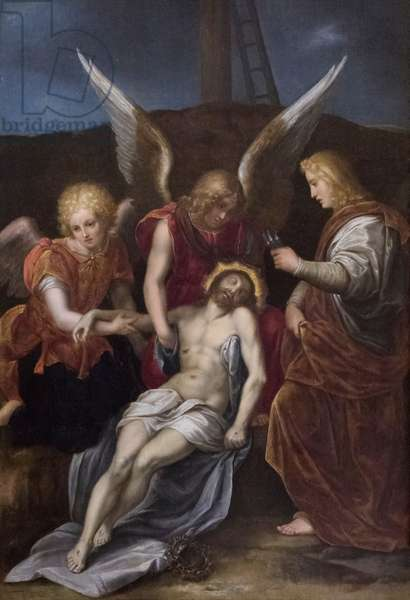 Descent from the cross, 16th century (oil on wood)