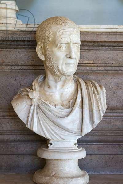 Bust of Traiano Decio, Traianus Decius (marble)