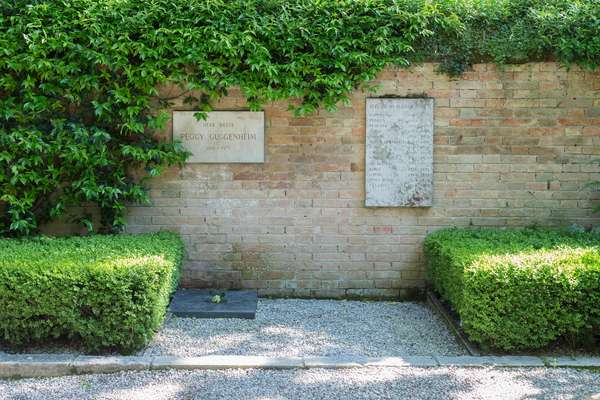 Burial place of American art collector Peggy Guggenheim