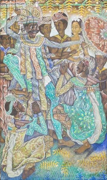 Jauk dance, 1956 (oil on canvas)