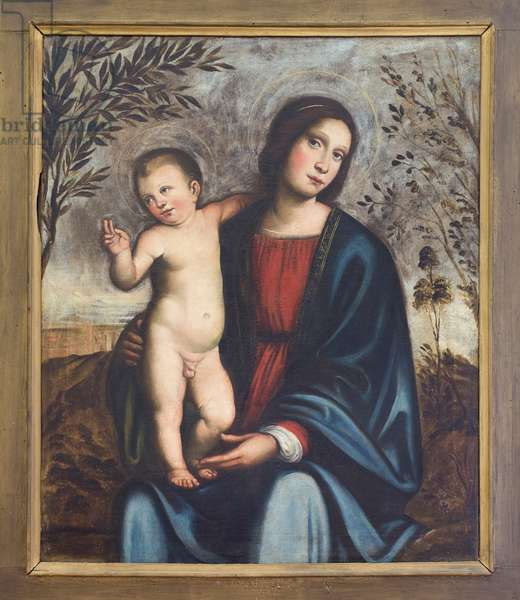 Virgin and Child, (oil on canvas)