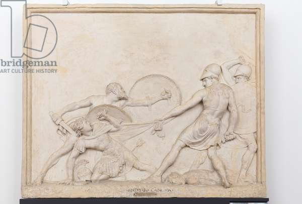 Socrates rescuing Alcibiades at Potidaea, 1797 (plaster)