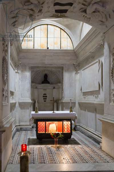 The San Gennaro spoils in the Duomo crypt in Naples, Italy (photo)