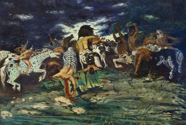 Lotta di centauri, c. 1909, Giorgio de Chirico (oil on canvas)
