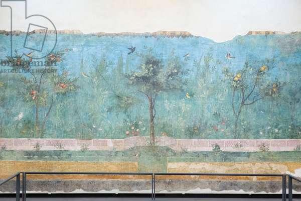 Triclinium of the house of Livia, 20 - 10 BC (fresco)