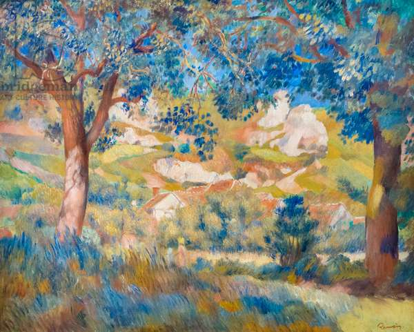 Landscape at La Roche Guyon, c. 1887 (oil on canvas)