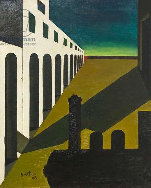 La matinée angoissante, La mattina angosciante, 1912, Giorgio de Chirico (oil on canvas)