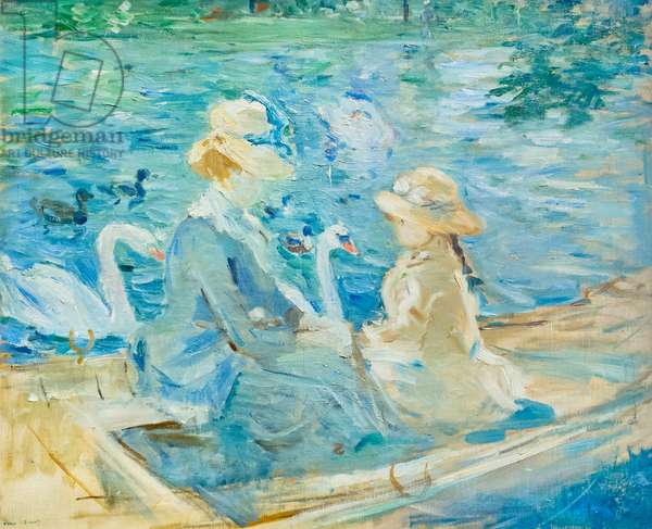 On the lake in the Bois de Boulogne, c. 1884 (oil on canvas)