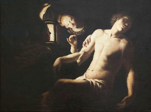 Saint Sebastian healed by Saint Irene (oil on canvas)