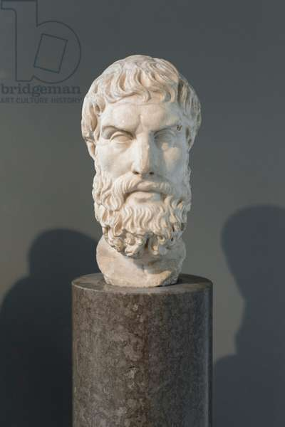 Head of Epikouros, 3rd-2nd century BC