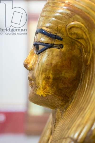 Gilded cartonage mask of Yuya, Egyptian Museum, Cairo, Egypt