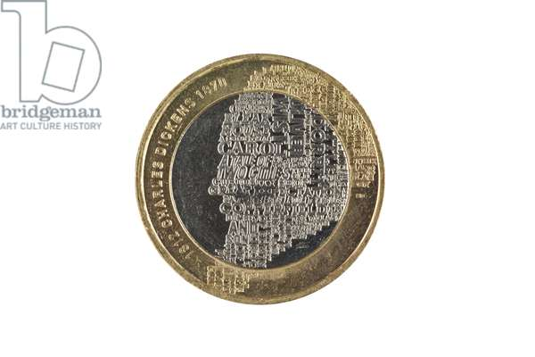 A special edition two pound coin marking the 200th anniversary of the birth of Charles Dickens (nickel-brass)