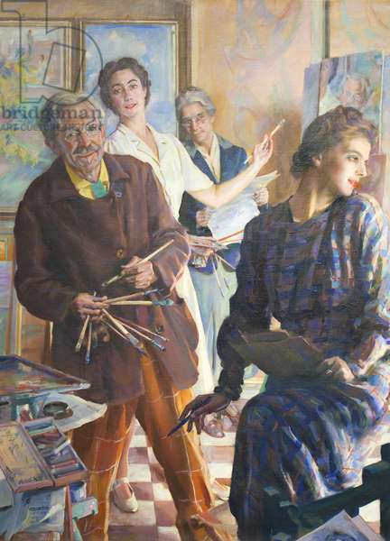 Four of Us in the Mirror, 1945 (oil on canvas)