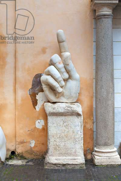 Marble hand from the colossal statue of Constantine (marble)