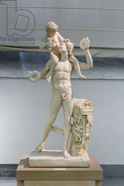 Satyr with the infant Dionysus, 2nd century AD, after a bronze original from the late hellenistic period (marble)