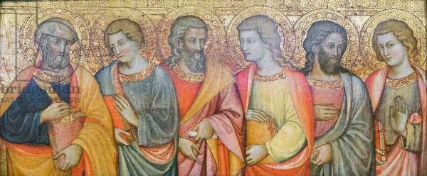 Apostles, Peter, John, Andrew, Philip ?, Simon ?, Thomas ?, Maestro di san Davino (oil on panel), turn of the 15th century (oil on panel)