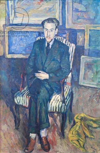 Portrait of a Seated Man, Mattia Moreni, 1942 (oil on canvas)