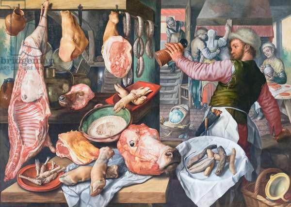Butcher shop, 1568, Joachim Beuckelaer (oil on canvas)