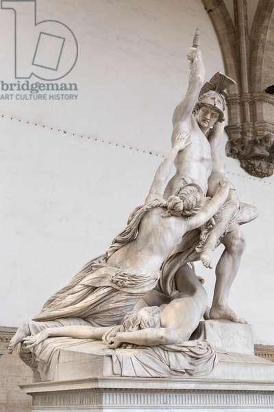 The rape of Polyxena, 1860-65, (marble)